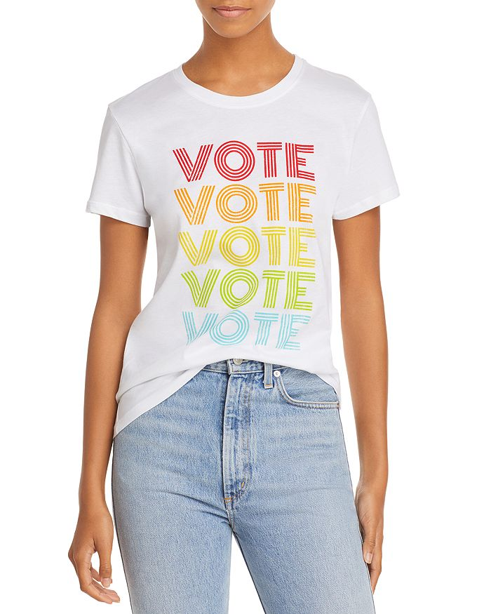Prince Peter Vote Repeat Tee In White