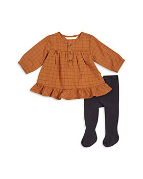 FIRSTS by petit lem - Girls' Long Sleeve Dress & Tights Set - Baby