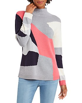 NIC and ZOE - The Bright Way Color Blocked Sweater