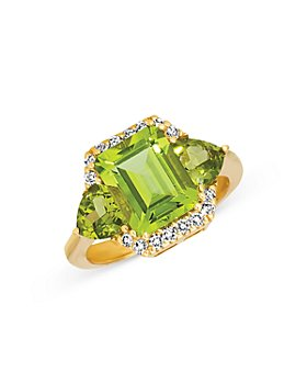 Bloomingdale's - Peridot and Diamond Statement Ring in 14K Yellow Gold - 100% Exclusive