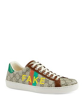 Gucci - Men's 'Fake/Not' Print Ace Sneakers