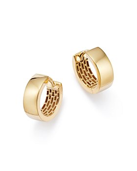 Bloomingdale's - Huggie Hoop Earrings in 14K Yellow Gold - 100% Exclusive