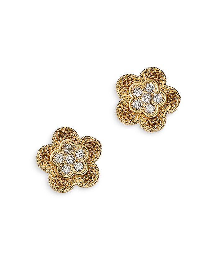 Bloomingdale's - Diamond Flower Stud Earrings in 14K Yellow Gold, 0.18 ct. t.w. - 100% Exclusive