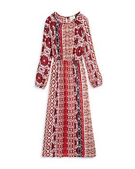 Hayden Los Angeles - Girls' Mixed Print Midi Dress - Big Kid
