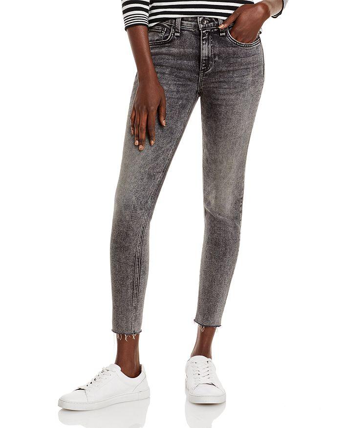 rag & bone - Cate Mid Rise Skinny Ankle Jeans in Black Sage