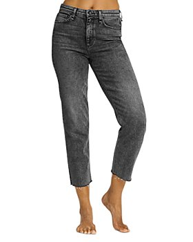 rag & bone - Nina High Rise Cigarette Leg Jeans in Black Sage