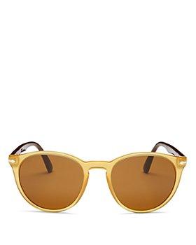 Persol - Unisex Polarized Round Sunglasses, 52mm