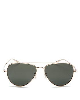 Oliver Peoples - x The Row Women's Casse Polarized Brow Bar Aviator Sunglasses, 58mm