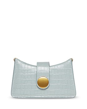 Elleme - Mini Croco Leather Baguette Crossbody Bag