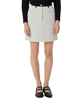 Maje - Tweed Mini Skirt with Contrasting Details