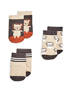 Elegant Baby - Boys' Lion Socks - 3-Piece Set, Baby