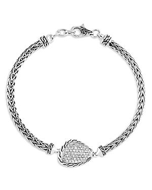 John Hardy Sterling Silver Classic Diamond Power Rock Chain Bracelet-Jewelry & Accessories