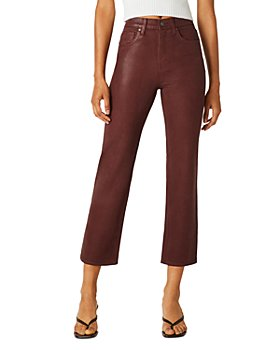 Hudson - Remi Cropped Straight Jeans in High Shine