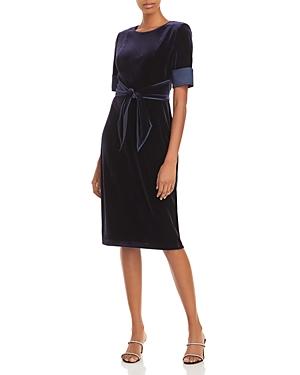 Adrianna Papell Velvet Sheath Dress