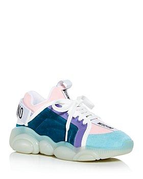Moschino - Women's Mixed Media Low Top Sneakers