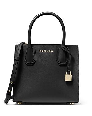 'Michael Michael Kors Mercer Medium Leather Messenger Bag