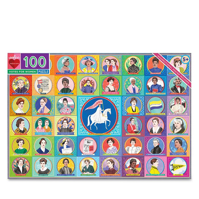 eeBoo - Votes for Women 100 Piece Puzzle - 5+