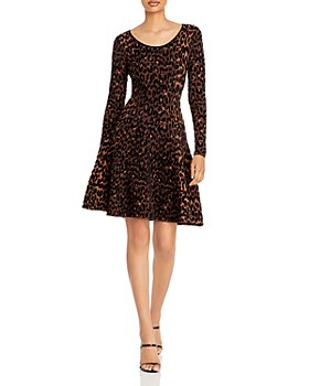 MILLY - Printed Fit and Flare Dress