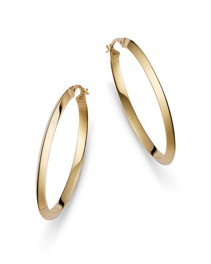 Alberto Amati 14k Yellow Gold Beveled Hoop Earrings - 100% Exclusive