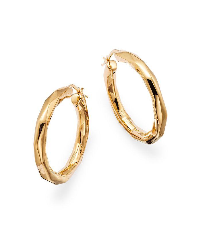 Alberto Amati 14k Yellow Gold Faceted Hoop Earrings - 100% Exclusive