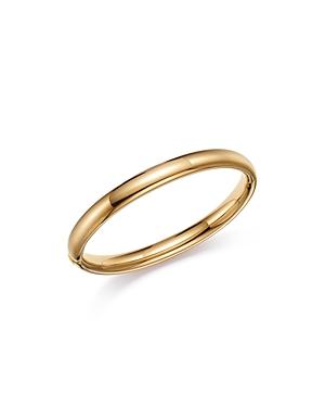 14K Yellow Gold Polished Tube Bangle Bracelet