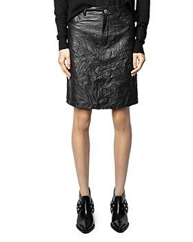 Zadig & Voltaire - Juicer Crinkled Leather Skirt