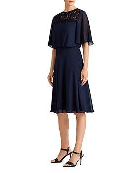 Ralph Lauren - Lace Yoke Fit And Flare Dress