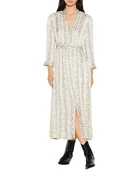 Sandro - Shira Long Printed Dress