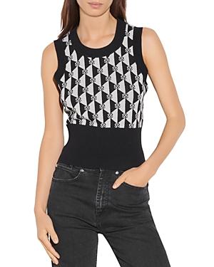 Sandro Sanddie Jacquard Logo Sweater Vest-Women