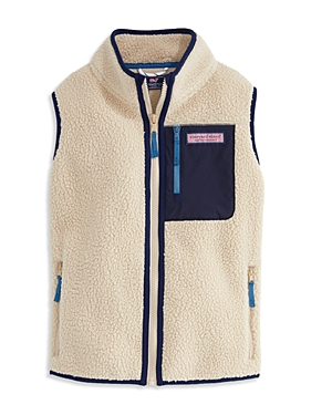 Vineyard Vines Boys\\\' Sherpa Full Zip Vest - Little Kid, Big Kid-Kids