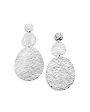 Ippolita STERLING SILVER CLASSICO HAMMERED LARGE SNOWMAN EARRINGS