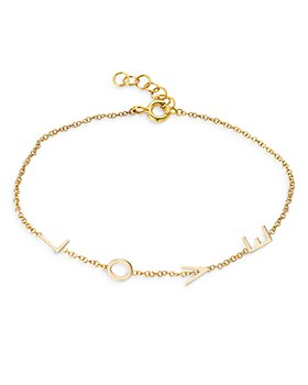 Zoe Lev - 14K Yellow Gold Love Chain Bracelet