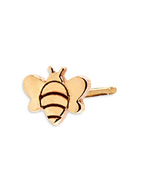 Zoë Chicco - 14K Yellow Gold Itty Bitty Bee Single Stud Earring
