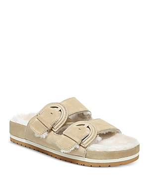 Vince WOMEN'S GLYN 2 SLIP ON BUCKLED SANDALS