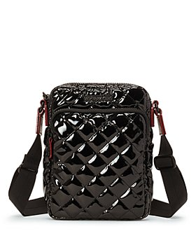 MZ WALLACE - Metro Black Lacquer Crossbody