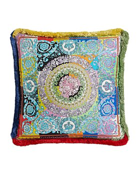 "Versace - Barocco Patchwork Silk Decorative Pillow, 18"" x 18"""
