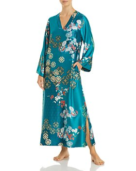 Natori - Printed Satin Sleep Caftan