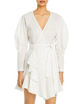 A.L.C. - Marks Striped Wrap Dress