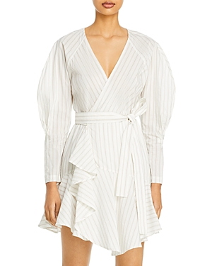 A.l.c. Marks Striped Wrap Dress-Women