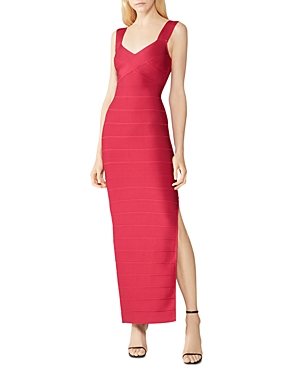 Herve Leger Cross Front Icon Gown