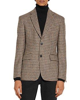 Sandro - Fox Wool Houndstooth Suit Jacket