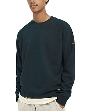 Scotch & Soda Cotton Solid Slim Fit Sweatshirt-Men