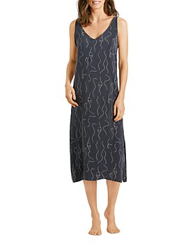 Hanro - Lille Printed Long Chemise Nightgown