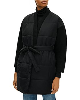 Eileen Fisher Plus - Plus Size Belted Puffy Coat