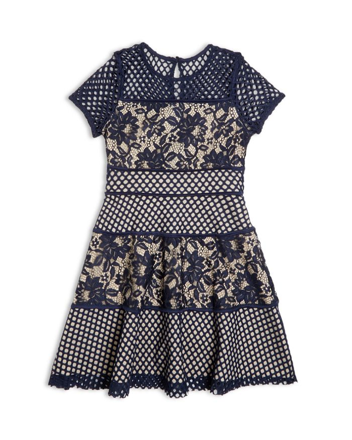 US Angels Girls' Color Block Lace Panel Dress, Big Kid - 100% Exclusive  | Bloomingdale's