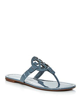 Tory Burch - Women's Miller Logo Leather Flip-Flops