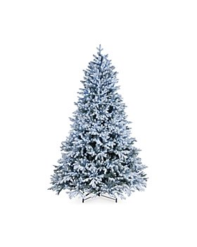 National Tree Company - 7.5 ft. Feel Real Snowy Hamilton Spruce Hinged Tree with 750 White Lights