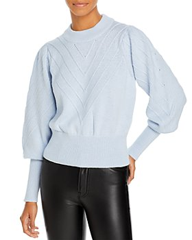 FRENCH CONNECTION - Balloon Sleeve Cropped Sweater