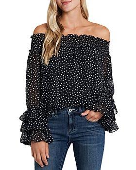 CeCe - Polka Dot Off-the-Shoulder Blouse