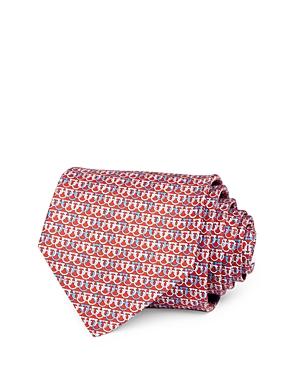 Salvatore Ferragamo Olympic Gancini Silk Classic Necktie-Men